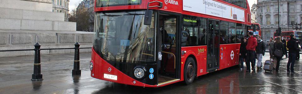 New Bus for London - Seit Frühjahr 2012 sind bei Arriva London die ersten Exemplare der neuen Hybridbus-Serie in Dienst gestellt